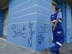 Pichador terá que limpar parede ou pagar pelo serviço em Vitória