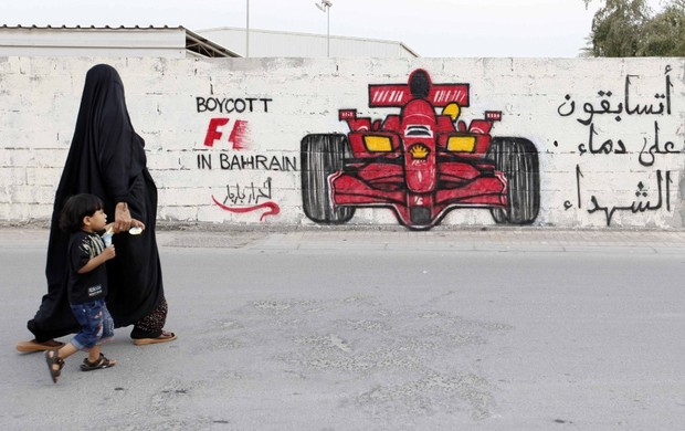 Protesto Barhein (Foto: Reuters)