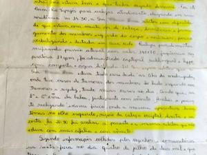 Carta (Foto: Jampierre Martins/TV Tapajós)