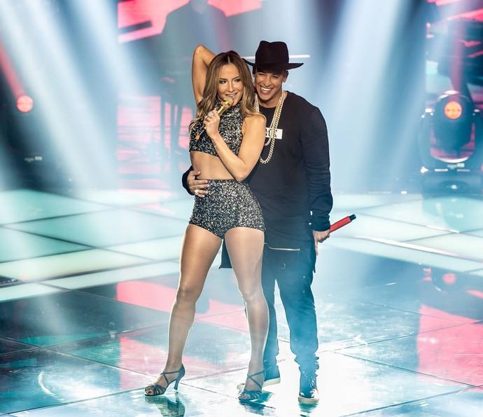 Claudia Leitte e Daddy Yankee no The Voice Brasil (Foto: Isabella Pinheiro, Gshow)