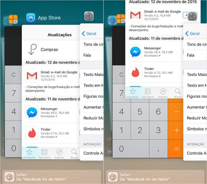Feche os aplicativos abertos em segundo plano (Foto: Foto: Reprodução/Helito Bijora)