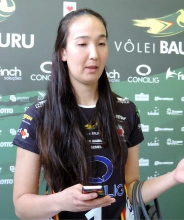 Ana Tiemi, levantadora, Vôlei Bauru (Foto: Sérgio Pais)
