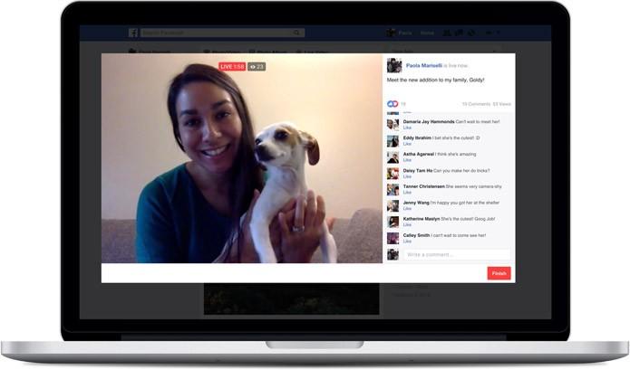 Faça lives com a webcam do seu notebook (Foto: Divulgação/Facebook)