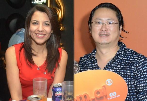 Profissional de comunicação Graziele Barros, e o empresário André Harada. (Foto: Divulgação/Evandro Duarte)