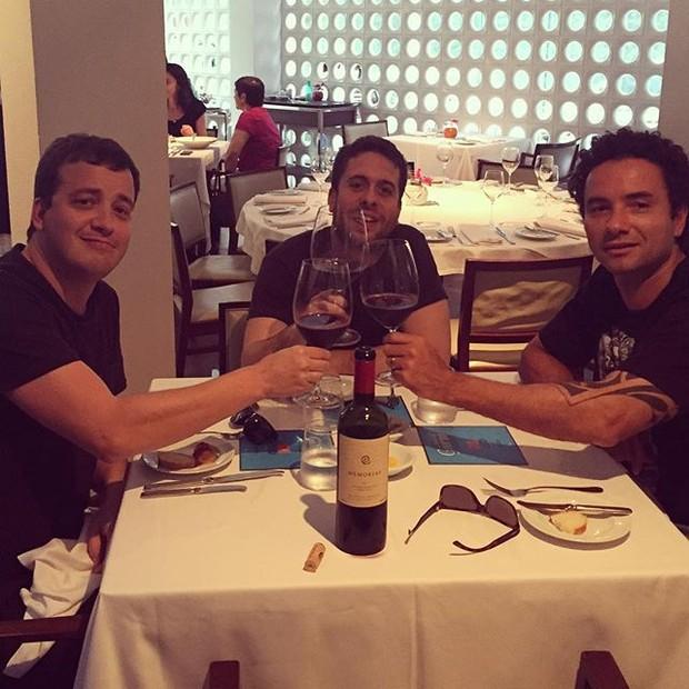 Rafael Cortez, Maurício Meirelles e Marco Luque  (Foto: Reprodução/Instagram)