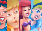 Artista reimagina princesas Disney como se elas fossem pautas do EGO