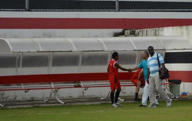 Edmilson Santos revela que conversa mudou fase do River Plate (Foto: Felipe Martins/GLOBOESPORTE.COM)