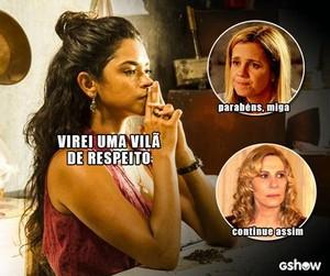 Lucy Alves também ganha meme por sua vilã (Foto: TV Globo)