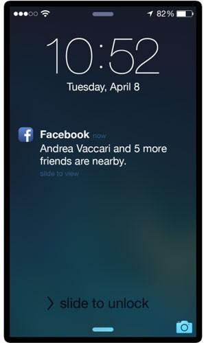 Função 'Nearby Friends', do Facebook, enviará avisos no celular quando um amigo estiver por perto. (Foto: Divulgação/Facebook)