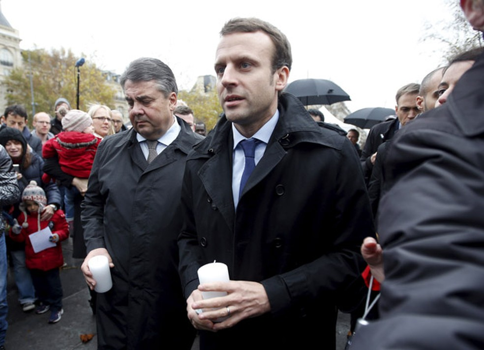 O candidato à presidência da França Emmanuel Macron (Foto: Eric Gaillard/Reuters)