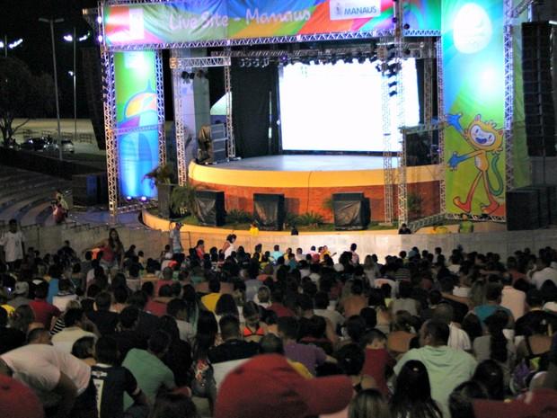 Live Site foi montado na Ponta Negra, em Manaus (Foto: Amazonas; manaus)
