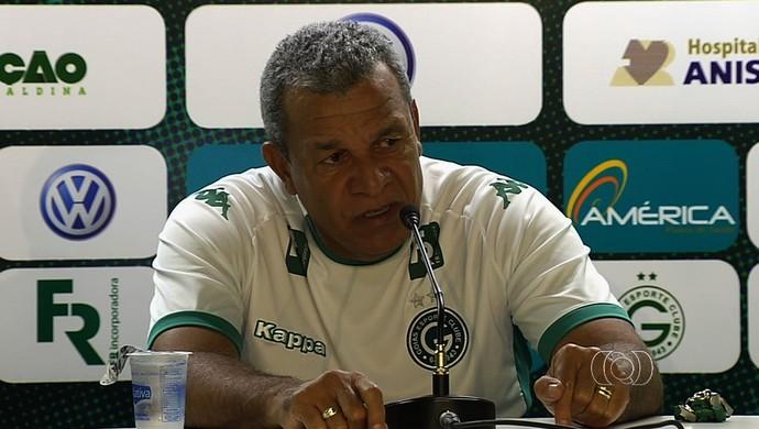 Hélio dos Anjos - técnico do Goiás (Foto: Reprodução / TV Anhanguera)