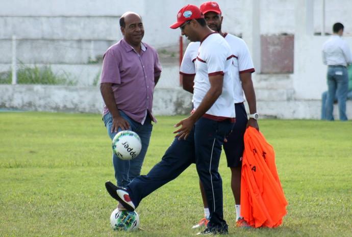 América-RN - Carlos Moura Dourado, gerente de futebol - Felipe Surian, técnico (Foto: Canindé Pereira/América FC/Divulgação)