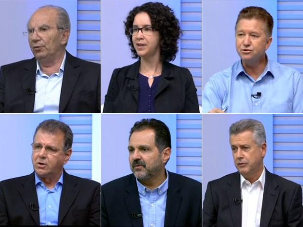 Os candidatos ao governo do DF nas eleições 2014 (Foto: TV Globo/Reprodução)