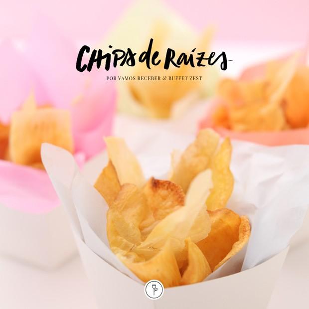 Como fazer chips de raízes