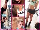 Karina Bacchi fica de ponta-cabeça em 'treininho rápido' de domingo