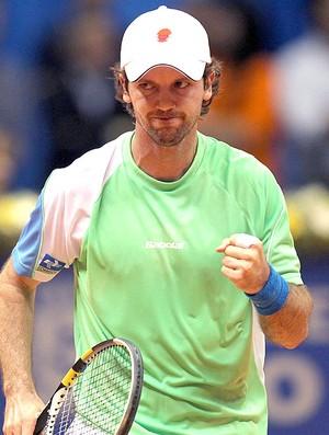Ricardo Mello na partida do Brasil Open 2012 de tênis (Foto: William Lucas / Inovafoto)