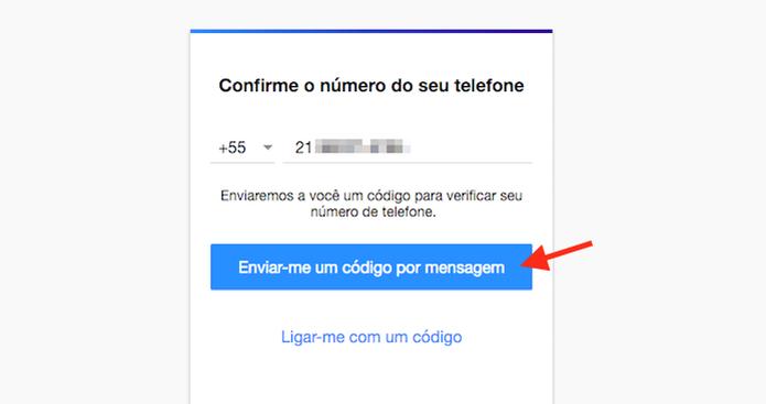 Confirmando o número de telefone usado para criar uma conta no Yahoo Mail (Foto: Reprodução/Marvin Costa) (Foto: Confirmando o número de telefone usado para criar uma conta no Yahoo Mail (Foto: Reprodução/Marvin Costa))