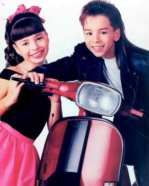 Sandy e Junior fizeram o primeiro show profissional em 1991 (Foto: Arquivo Pessoal)