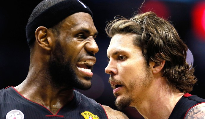 Lebron James e Mike Miller Miami (Foto: Getty Images)