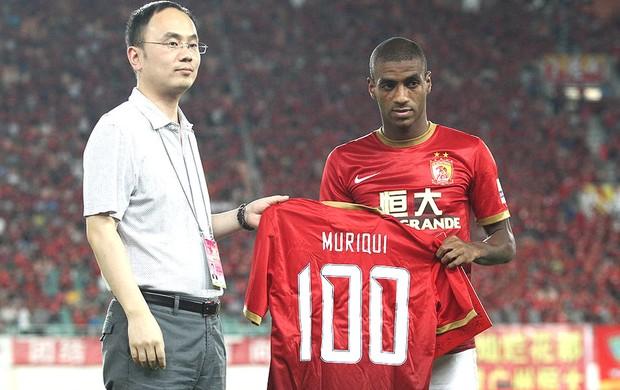 Muriqui 100 jogos Guangzhou Evergrande (Foto: Reprodução / Sina.com)
