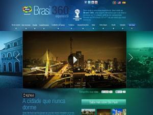 Frame do vídeo Brazil 360, da Embratur, sobre SP (Foto: Reprodução)