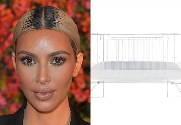 Kim Kardashian e berço de 14 mil reais da filha Chicago (Foto: Reprodução/Instagram)