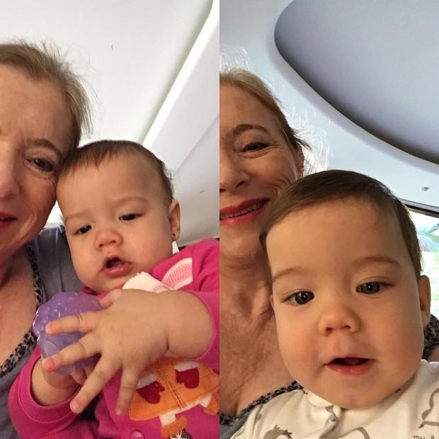 Filhos de Luana Piovani com a avó (Foto: Reprodução/ Instagram)