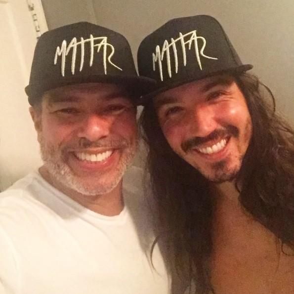 Maurício Mattar e o filho, Luã (Foto: Reprodução / Instagram)