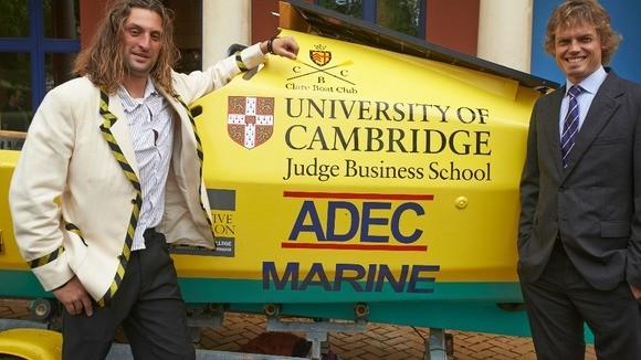 Mark de Rond e Anton Wright terminaram a aventura na costa do Amapá (Foto: Cambridge Judge Business School/Divulgação)