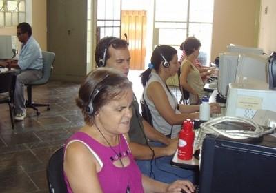 Uma das campanhas no Kickante, para ensino de informática para cegos (Foto: Divulgação)