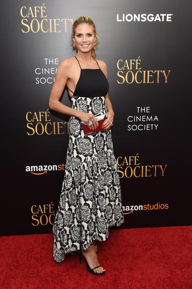 Heidi Klum em première de filme em Nova York, nos Estados Unidos (Foto: Jamie McCarthy/ Getty Images/ AFP)
