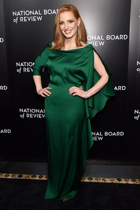 Jessica Chastain em evento em Nova York, nos Estados Unidos (Foto: Jamie McCarthy/ Getty Images/ AFP)