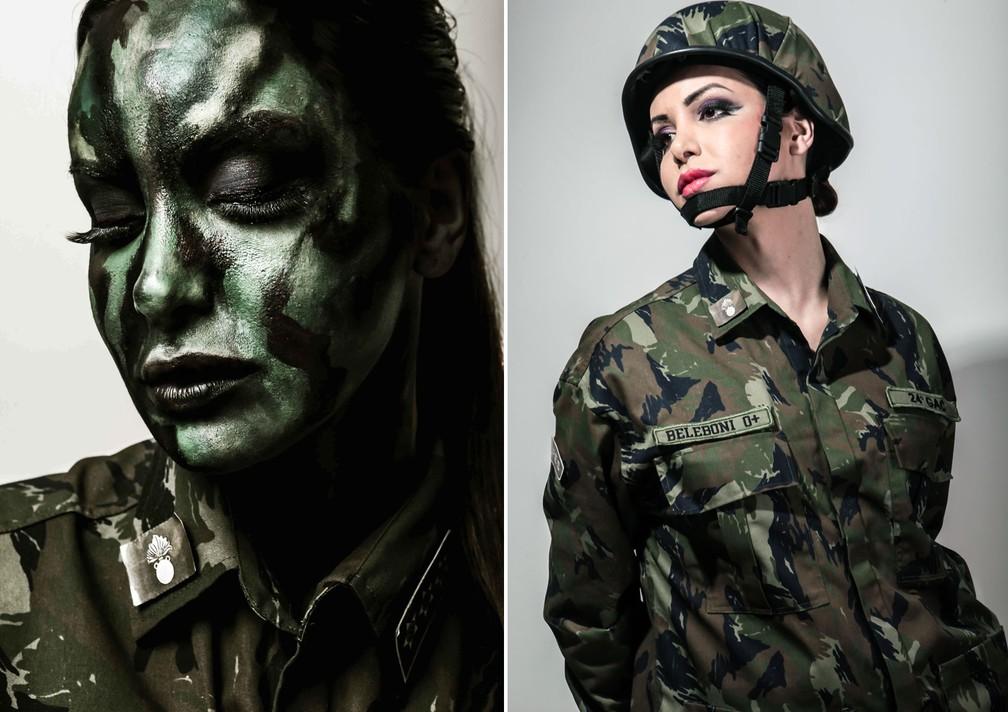 Viviany Beleboni vai sair de militar na Parada Gay (Foto: Foto e maquiagem: Marcio Desideri/Divulgação)