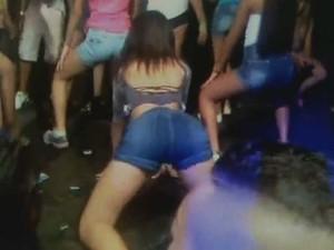 Vídeo mostra menores de idade em baile funk em galpão de Campinas (Foto: Reprodução EPTV)
