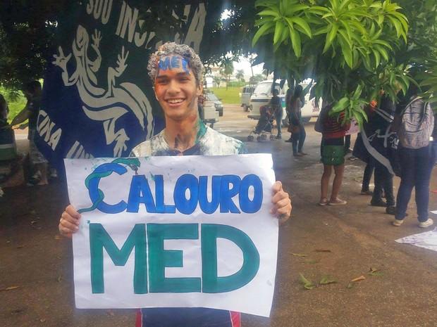 Estudante David da Silva Nunes, de 18 anos, aprovado em medicina pela Universidade de Brasília (Foto: David da Silva Nunes/Arquivo Pessoal)