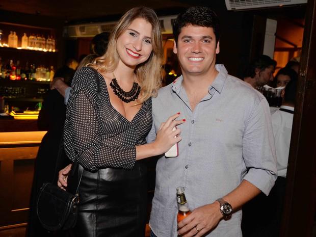 Renata Heilborn e o marido, Marcelo Courrege, em festa na Zona Sul do Rio (Foto: Ari Kaye/ Divulgação)