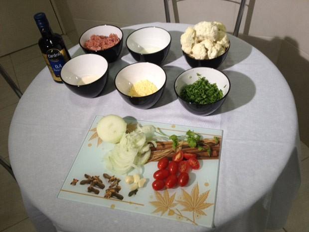 Reunidos, os ingredientes do prato que une a tradição nordestina com o gostinho do Paraná (Foto: Divulgação/RPC TV)