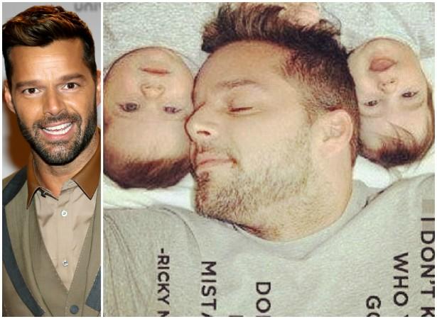 Ricky Martin teve os gêmeos Matteo e Valentino em agosto de 2008, com ajuda de uma barriga solidária. (Foto: Getty Images e Instagram)
