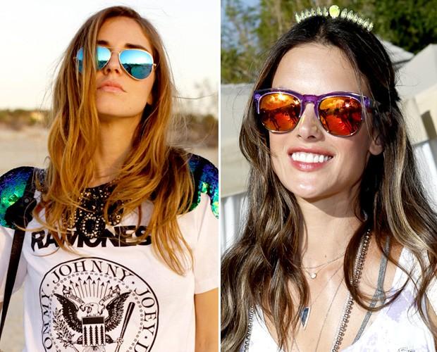 bf138b1846582 Moda de festival  óculos espelhados e coroas florais são hits do Coachella