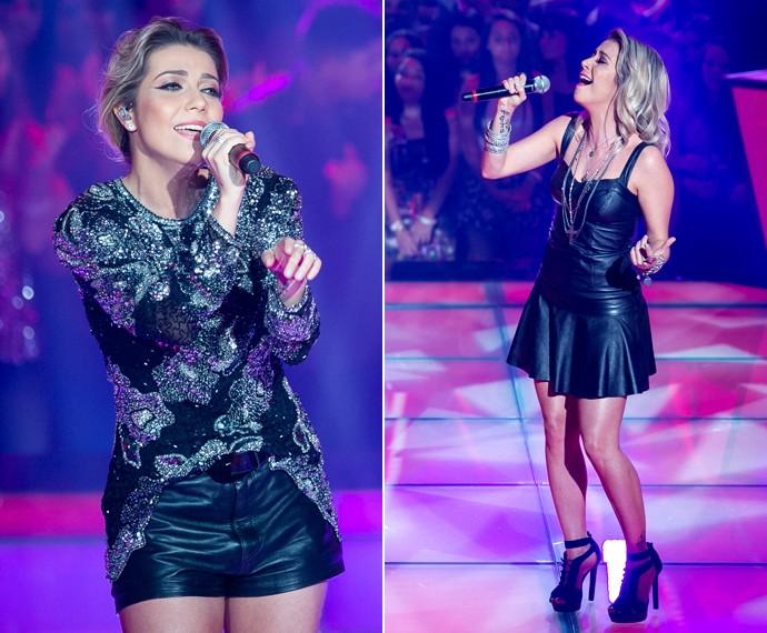 Com dois looks em preto nas Batalhas da terceira temporada do The Voice (Foto: Isabella Pinheiro/Gshow)