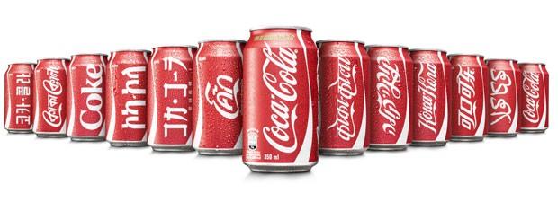 Coca-Cola lança latas com nome da marca em 11 línguas diferentes (Foto: Divulgação)