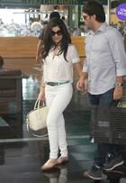 Look do dia: Vanessa Giácomo exibe boa forma com modelito todo branco