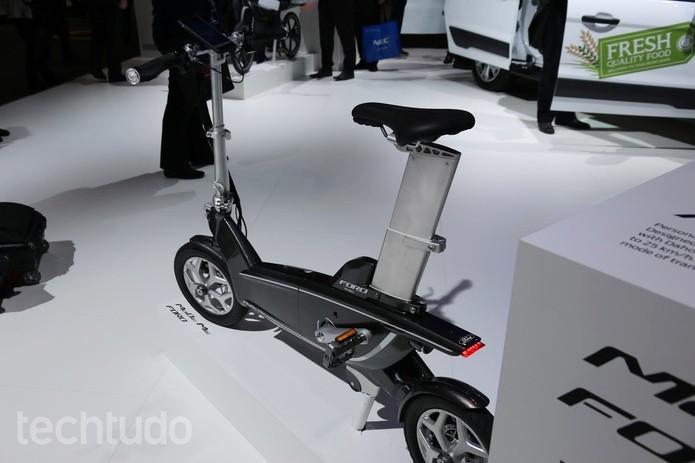 MoDe:Me é uma bicicleta inteligente da Ford capaz de medir os batimentos cardíacos do usuário (Foto: Isadora Díaz/TechTudo)