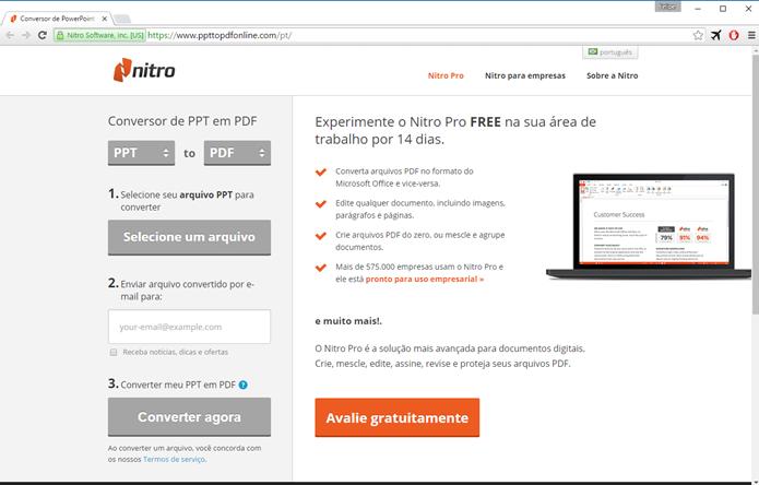 Nitro Pro possui versão web e desktop (Foto: Felipe Alencar/TechTudo)