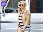 Look do dia: Hilary Duff usa shortinho em tarde de compras
