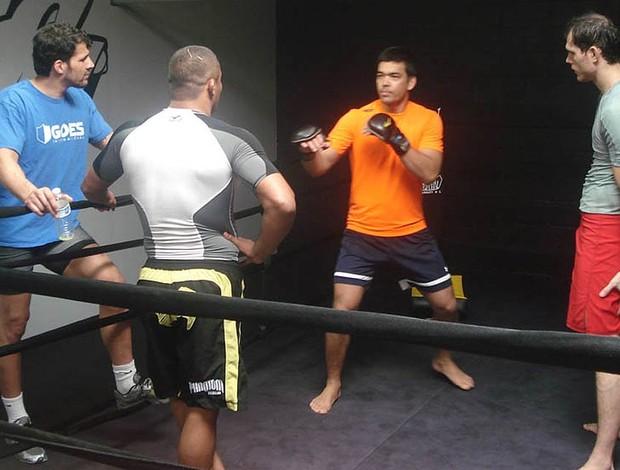 Lyoto Machida Roger Gracie Carlos Eduardo Tá Danado mma ufc (Foto: Adriano Caldas/Sportv.com)