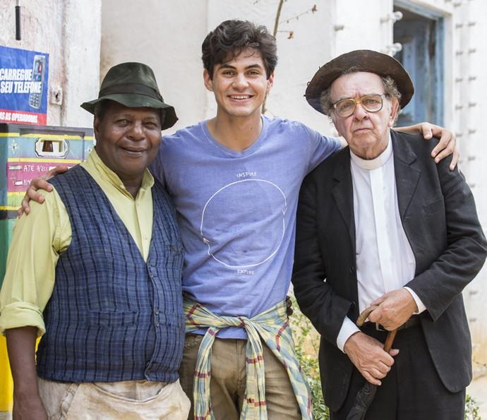 Gesio Amadeu, Lucas Veloso e Umberto Magnani posam para o Gshow (Foto: Felipe Monteiro/ Gshow)