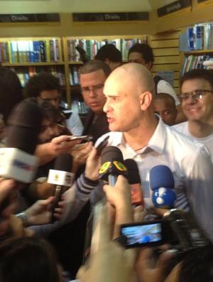 Lançamento da biografia de Marcos em São Paulo (Foto: Diogo Venturelli / globoesporte.com)