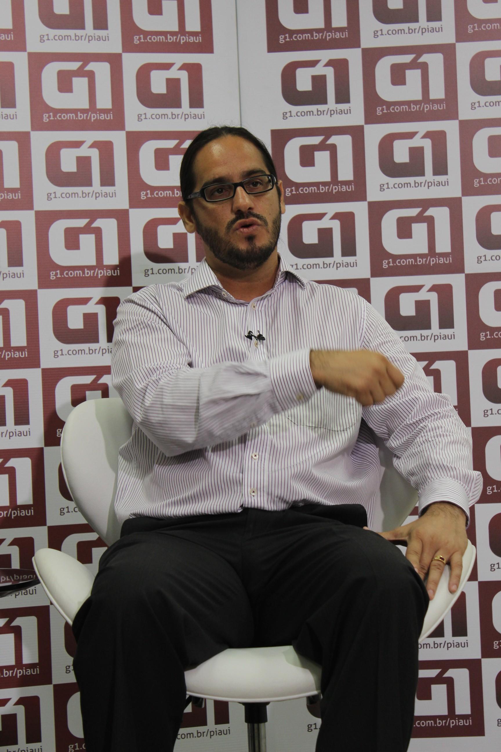 Maklandel durante entrevista ao portal G1 (Foto: Jaqueliny Siqueira/ G1)